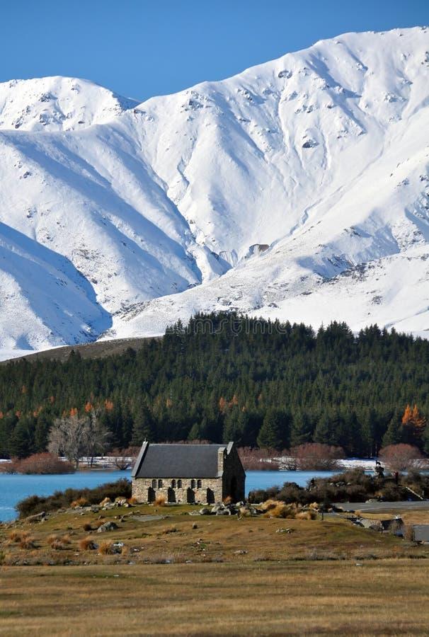 Iglesia del buen pastor, Tekapo, Nueva Zelandia foto de archivo libre de regalías