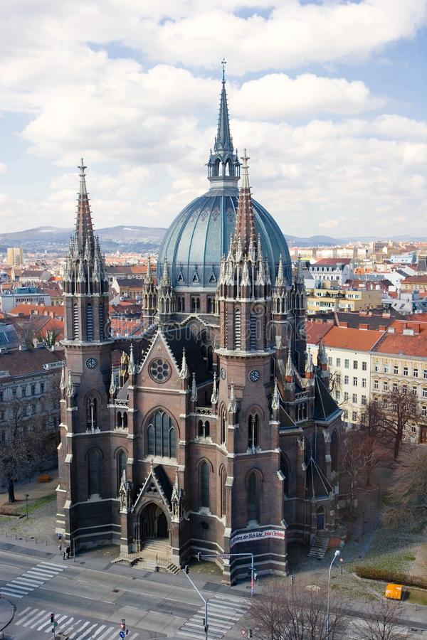 Iglesia del cerco de Maria Vom, Viena fotografía de archivo libre de regalías