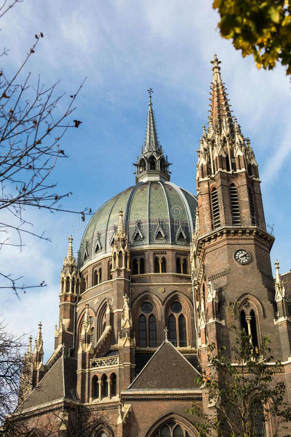 Iglesia del cerco del vom de Maria, Viena, Austria foto de archivo