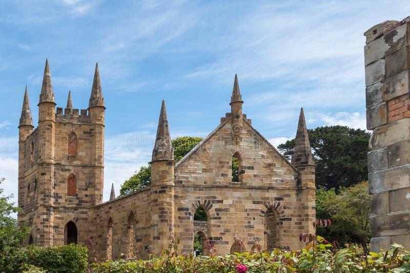 Iglesia del convicto, Port Arthur, Tasmania imágenes de archivo libres de regalías