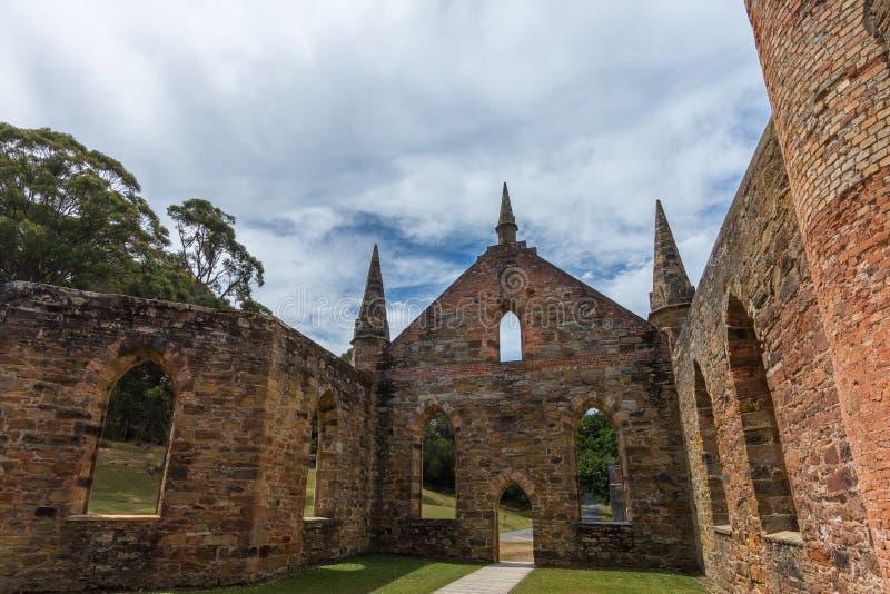 Iglesia del convicto, Port Arthur, Tasmania imagen de archivo