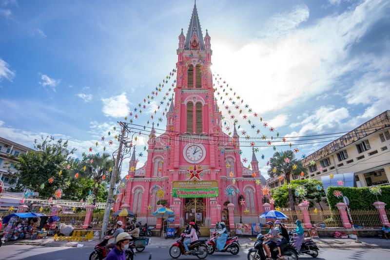 Iglesia del corazón sagrado de Jesús en Saigon fotos de archivo libres de regalías