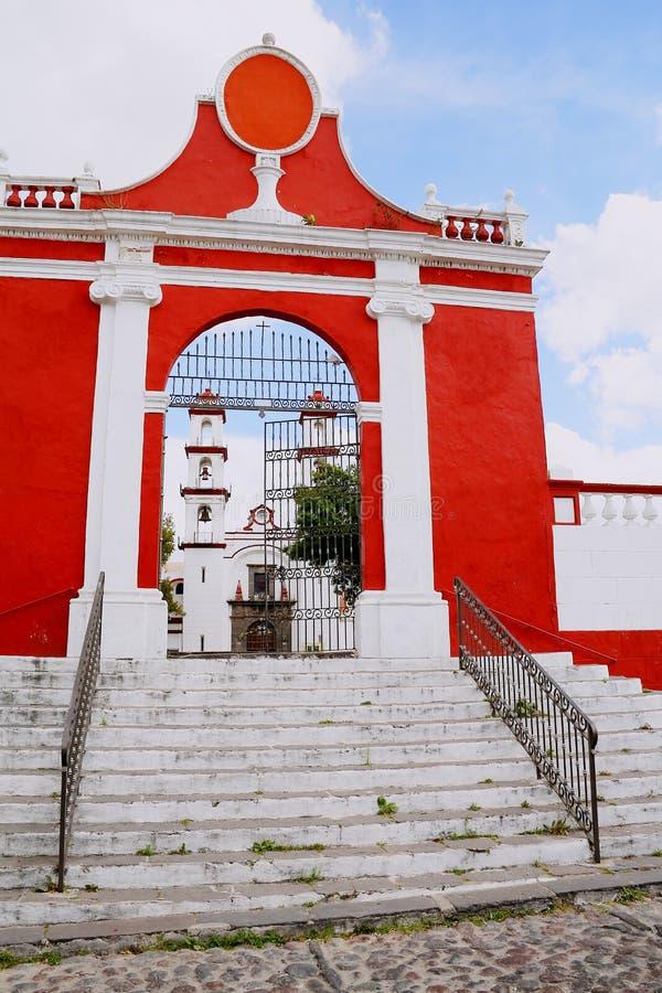 Iglesia del custodio del ángel de Santo en Puebla II fotos de archivo