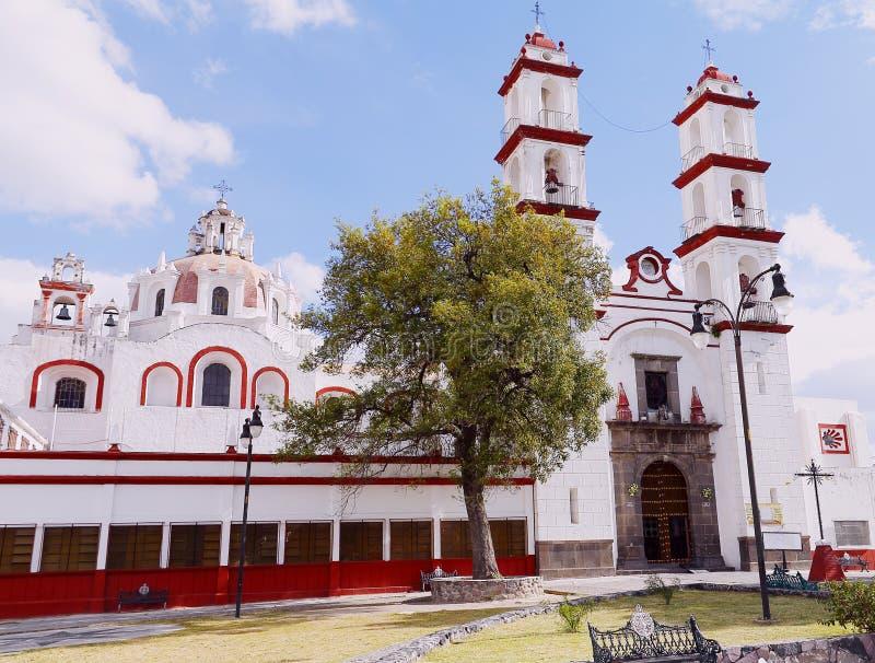 Iglesia del custodio del ángel de Santo en Puebla III imagen de archivo libre de regalías