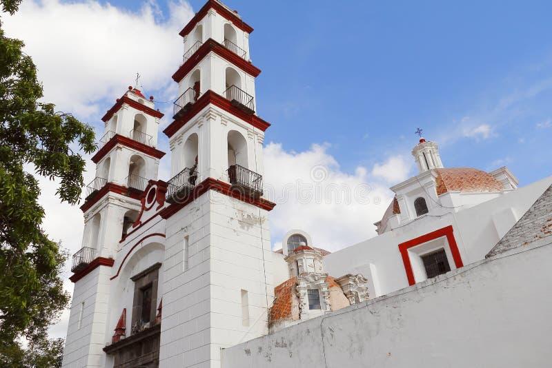 Iglesia del custodio del ángel de Santo en Puebla V fotos de archivo libres de regalías