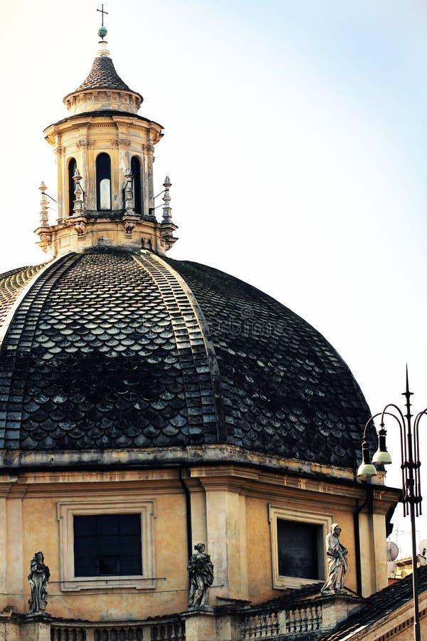 Iglesia del dei Miracoli de Santa Maria en Piazza del Popolo, Roma fotos de archivo libres de regalías