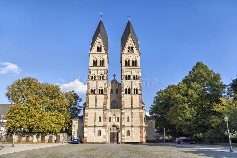 Iglesia del echador del St en Coblenza foto de archivo libre de regalías