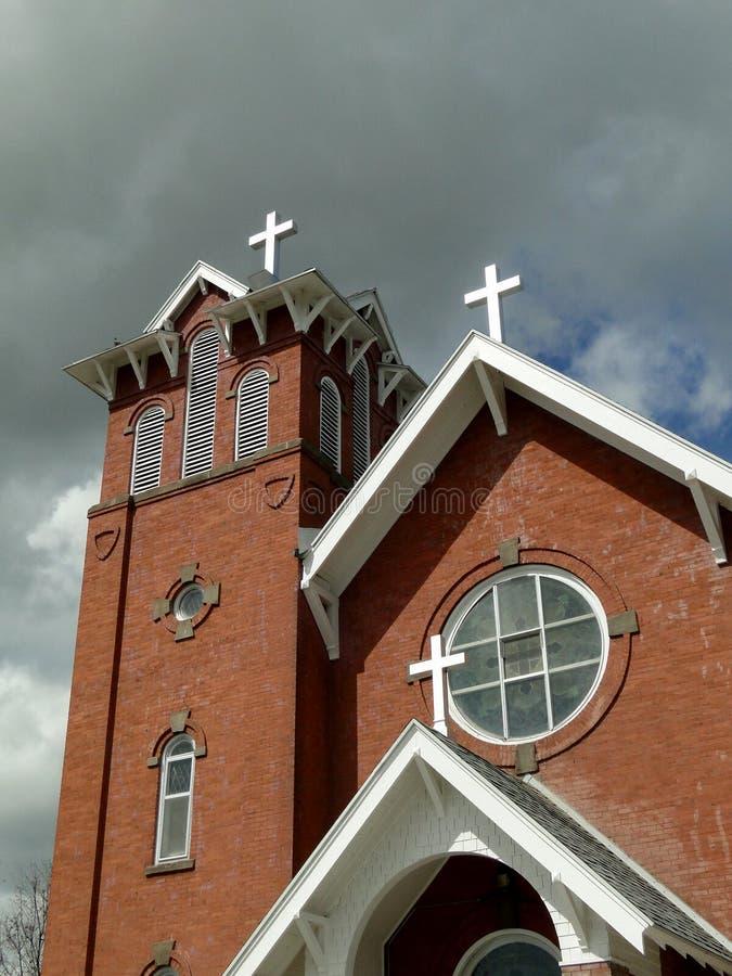Iglesia 1912 del estilo de Italianate foto de archivo