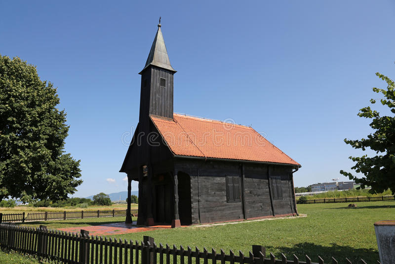 Iglesia del Jesús herido en Pleso, Velika Gorica, Croacia foto de archivo libre de regalías