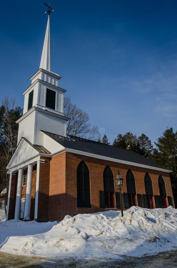 Iglesia del ladrillo - Grafton, Vermont imagenes de archivo
