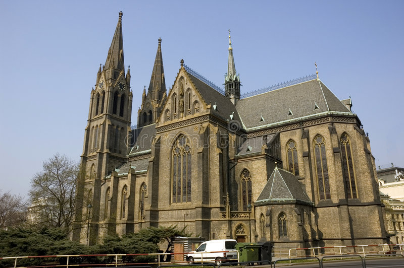 Iglesia del ludmila del santo imágenes de archivo libres de regalías