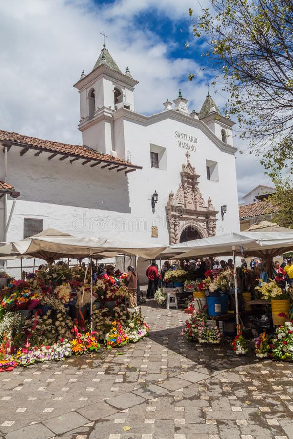 Iglesia del mercado y del EL Carmen de la Asuncion foto de archivo