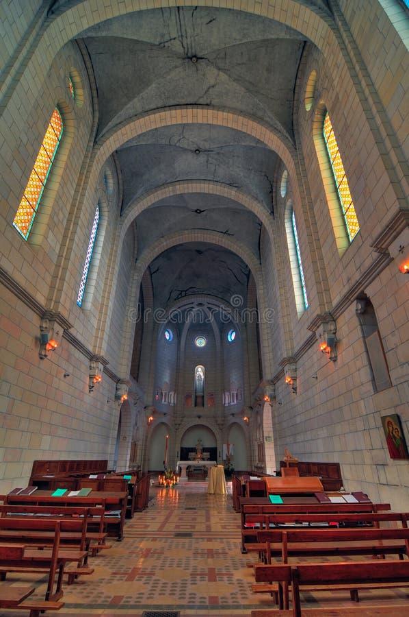 Iglesia del monasterio de Latrun, Israel fotografía de archivo libre de regalías