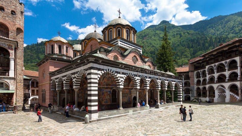 Iglesia del monasterio de Rila foto de archivo libre de regalías