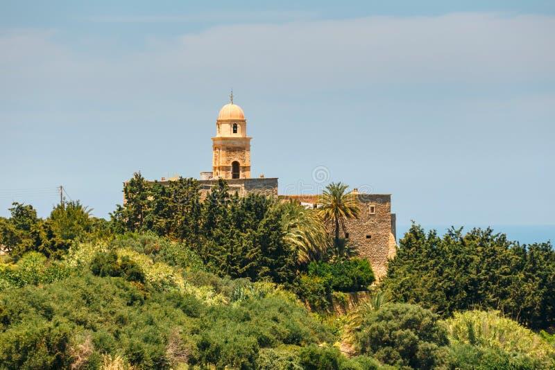 Iglesia del monasterio de Toplou, Creta fotos de archivo libres de regalías