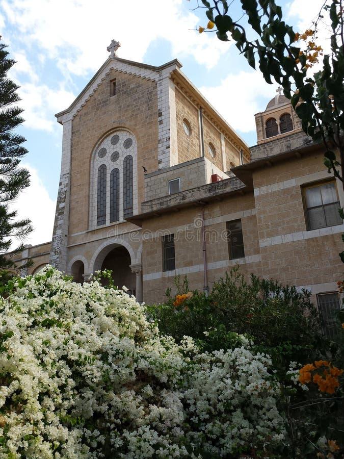 Iglesia del monasterio del trapense de Latrun fotos de archivo libres de regalías