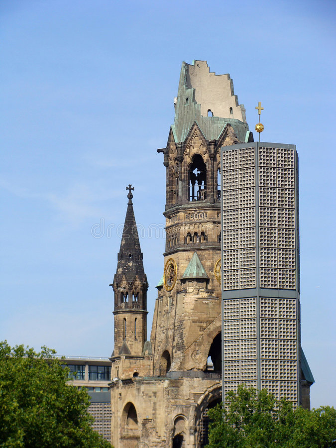 Iglesia del monumento de Kaiser Guillermo foto de archivo
