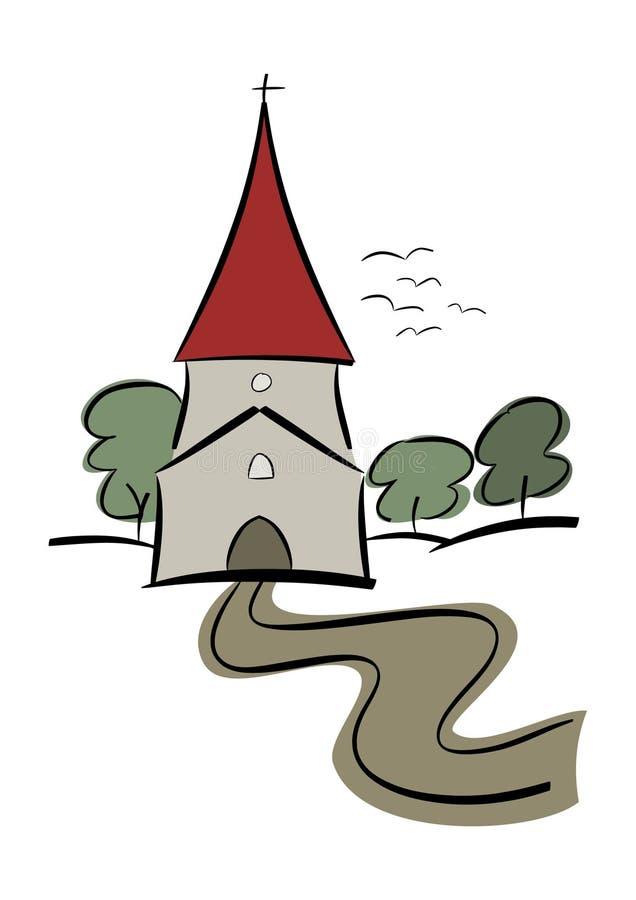Iglesia del país ilustración del vector