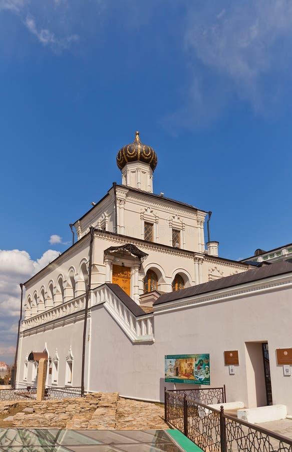 Iglesia del palacio de Kazán el Kremlin, Rusia Sitio de la UNESCO foto de archivo