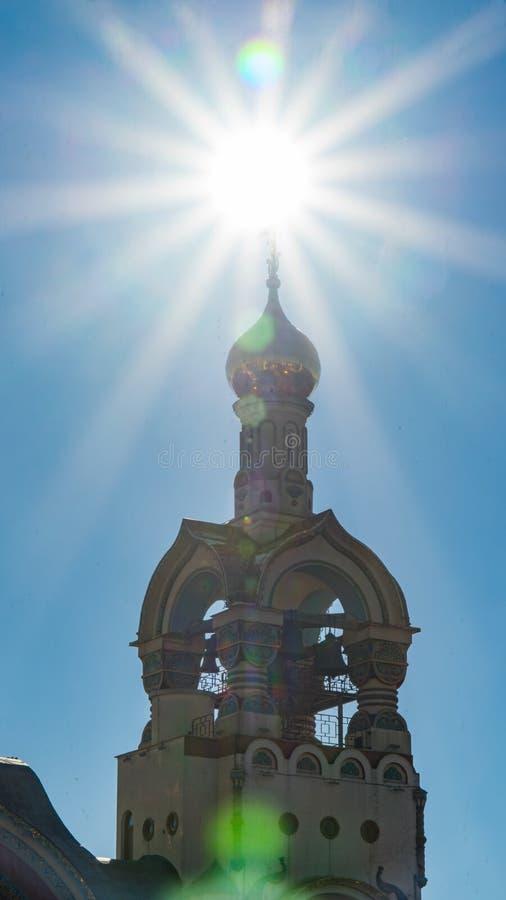 Iglesia del príncipe apostólico santo Vladimir en sol Sochi, Rusia fotos de archivo
