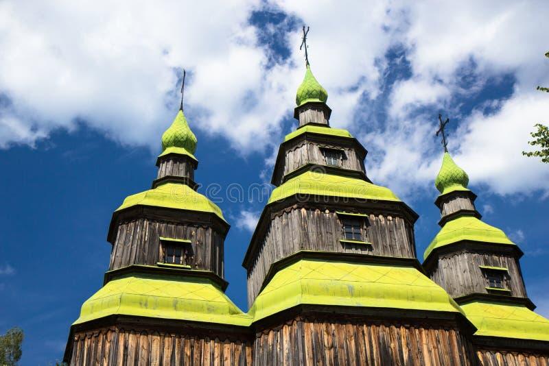 Iglesia del pueblo de Zarubincy, foto de archivo libre de regalías