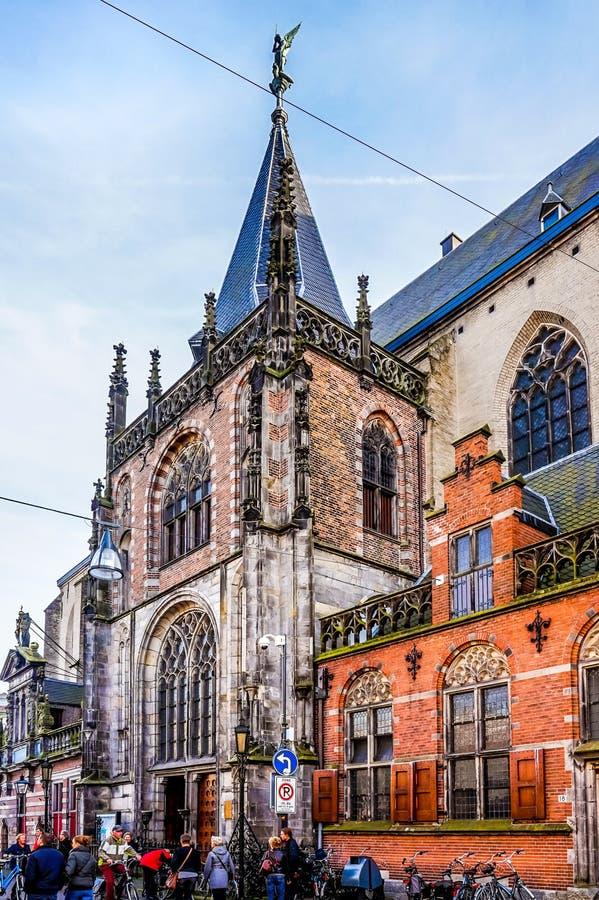 Iglesia del ` s de San Miguel en el centro de Zwolle en los Países Bajos foto de archivo