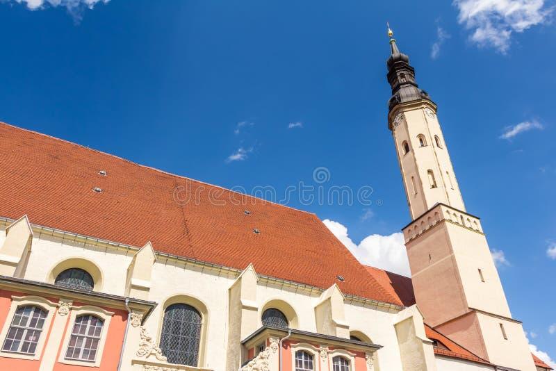 Iglesia del ` s de San Pedro y de San Pablo en Zittau fotografía de archivo