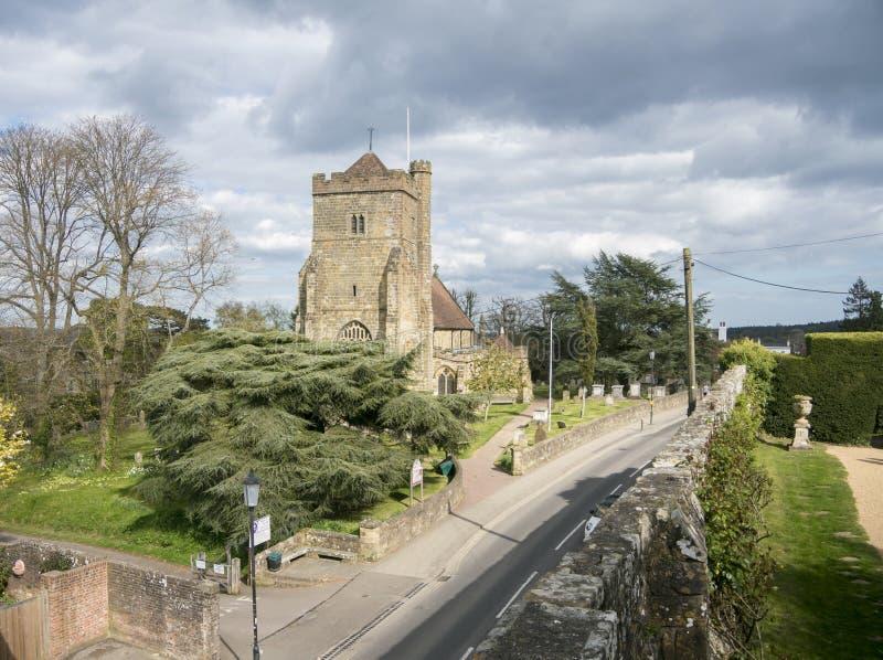Iglesia del ` s de St Mary, batalla, Sussex, Reino Unido foto de archivo
