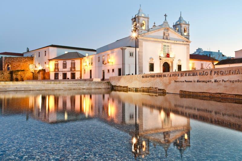 Iglesia del `s del S. Maria, Lagos, Algarve fotografía de archivo