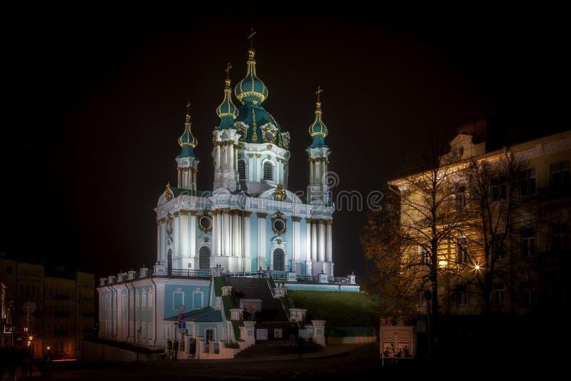 Iglesia del `s del St Andrew, Kiev, Ucrania fotografía de archivo