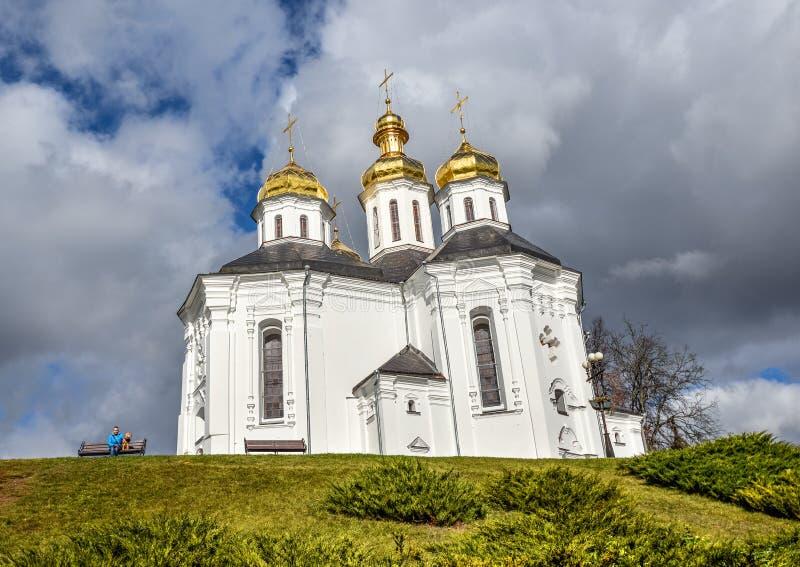 Iglesia del ` s del St Catherine, monumentos culturales europeos de Chernihiv Ucrania Europa Comienzo del siglo XVIII foto de archivo libre de regalías