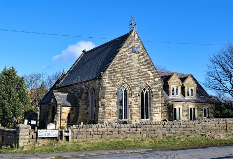 Iglesia del ` s del St Hilda, en Ravenscar imagen de archivo