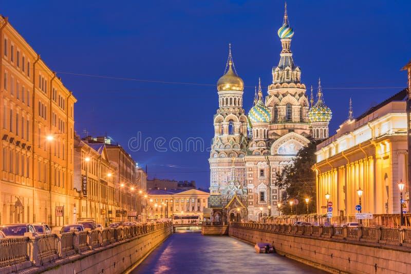 Iglesia del salvador en sangre derramada en St Petersburg, Russi fotografía de archivo libre de regalías
