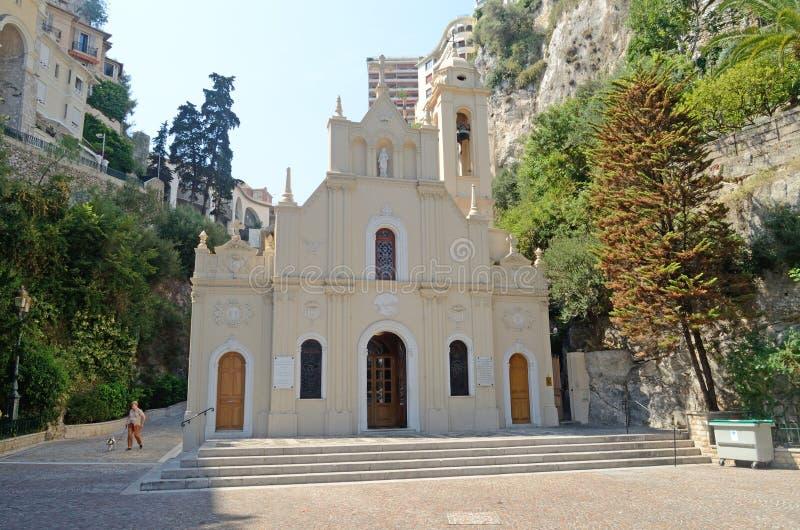 Iglesia del santo Devota, Mónaco, Tom Wurl fotos de archivo libres de regalías