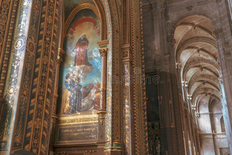 Iglesia del santo-Eustache en París foto de archivo libre de regalías