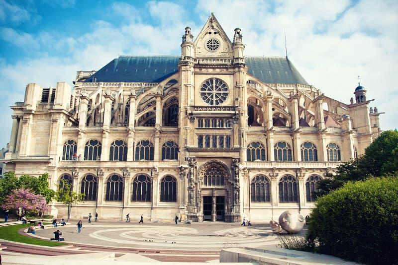 Iglesia del santo-Eustache en París imagenes de archivo