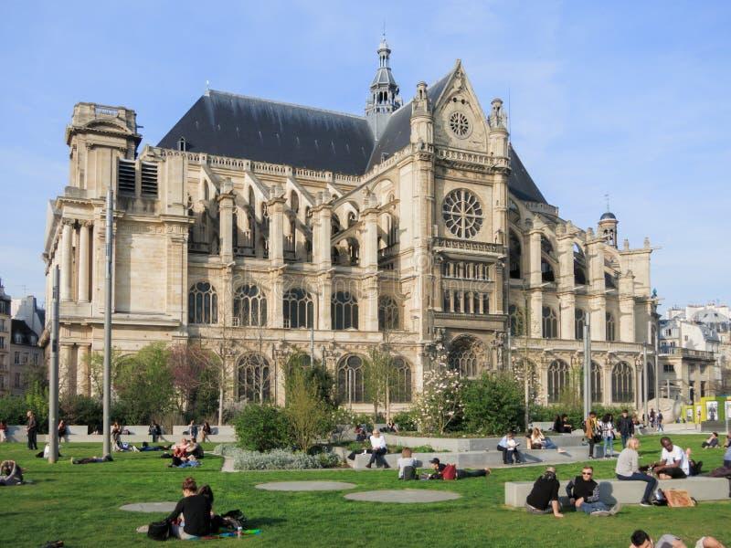 Iglesia del santo-Eustache, París foto de archivo libre de regalías
