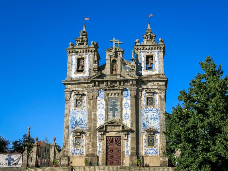 Iglesia del santo Ildefonso fotos de archivo