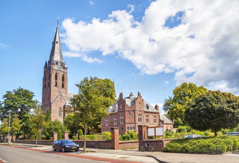 Iglesia del santo Lamberto en Eindhoven fotos de archivo