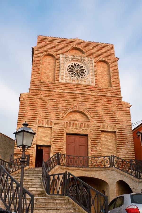 Iglesia del santo Michael Archangel en Miglianico fotografía de archivo