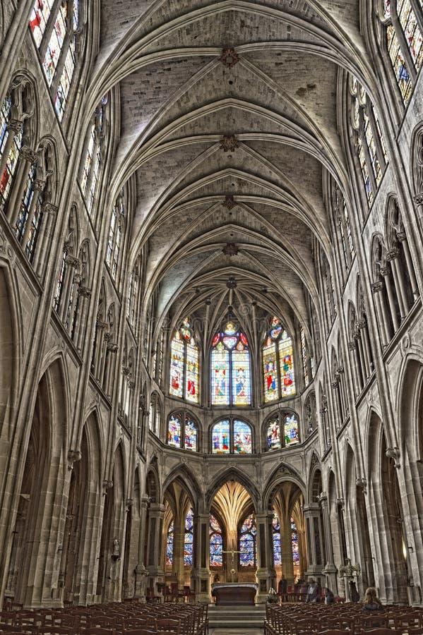 Iglesia del santo-Severin, París imágenes de archivo libres de regalías