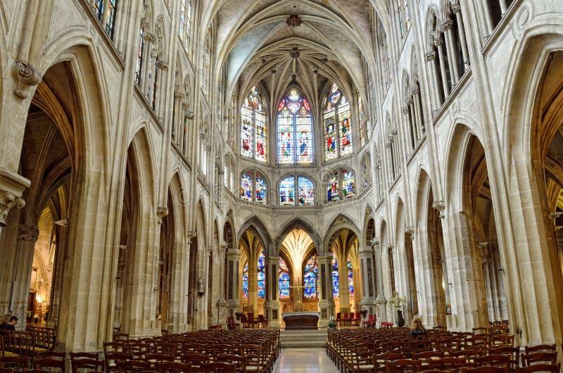 Iglesia del santo-Severin, París imagen de archivo