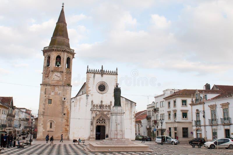 Iglesia del sao Joao Baptista, Tomar fotografía de archivo libre de regalías