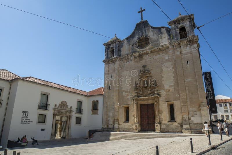 Iglesia del sao Salvador y Museo Nacional Machado de Castro de foto de archivo libre de regalías