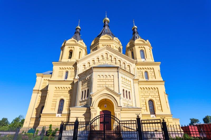 Iglesia del St Alexander Nevskiy imagenes de archivo
