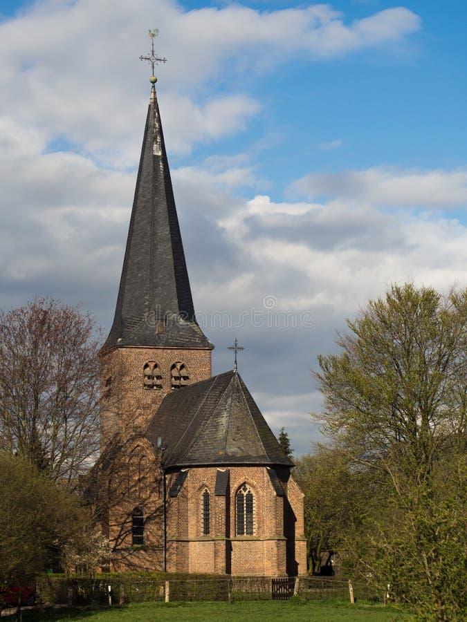 Iglesia del St Antonius en Hanselaer, Kalkar, Alemania imagen de archivo libre de regalías