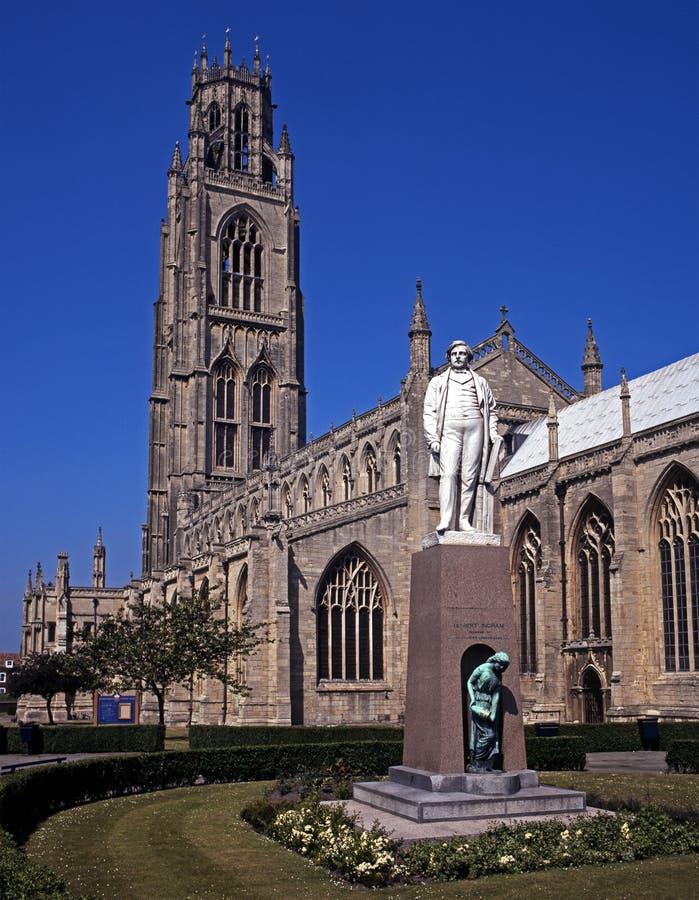 Iglesia del St Botolphs, Boston, Reino Unido. imagenes de archivo