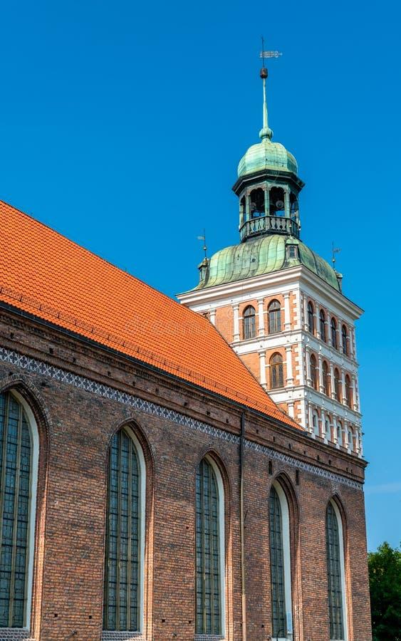 Iglesia del St Bridget en Gdansk, Polonia imagen de archivo