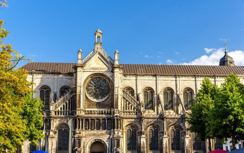 Iglesia del St Catherine en Bruselas imagenes de archivo