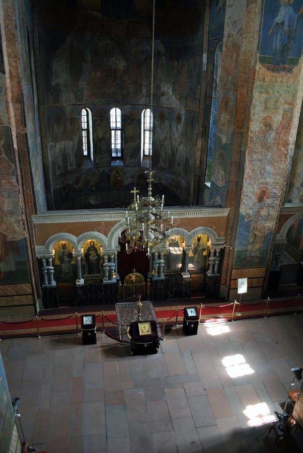 Iglesia del St Cyril en Kiev Interior imagen de archivo libre de regalías